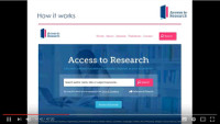 Video:  Getting the most from Access to Research in your library